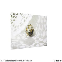Dice Under Lace Shadow Canvas Print