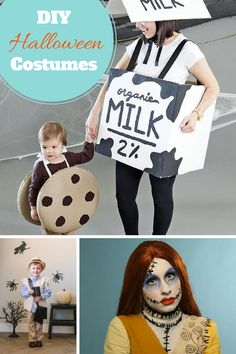 Deck out your little trick-or-treater and yourself with one of our 50 handmade Halloween costumes or silver screen-ready makeup ideas.