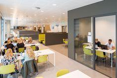 In het nieuwe Wibauthuis heeft OIII architecten een multifunctionele werk- en leeromgeving voor de Hogeschool van Amsterdam ontworpen.