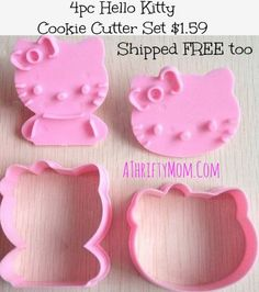 e513e50955 Hello Kitty Cookie Cutter set of 4 ONLY  1.59 plus they SHIP FREE
