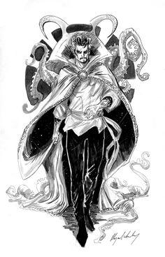 Comic Book Characters, Marvel Characters, Doctor Strange Drawing, Rainbow Six Siege Anime, Ghost Dog, Weird Art, Strange Art, Marvel Fan Art, Man Thing Marvel