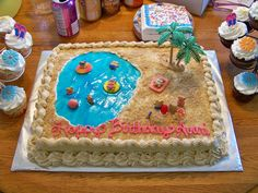 Avari's swimming party on Cake Central