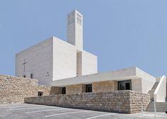 Cross-shaped windows feature on Lebanese church by Maroun Lahoud