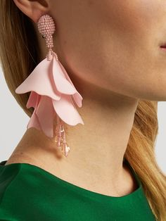 Oscar De La Renta Impatiens Mini clip-on earrings LuW5nHSUL