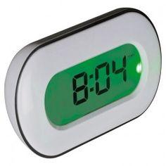 Namizna ura z večbarvnim zaslonom ima pet različnih funkcij: prikaz temperature, datum in dan, ura z budilko in časovnik. Vsaka vrednost ima svojo barvo zaslona. Med funkcijami menjamo tako, da se dotaknemo belega okvirja ure. Tisk je možen na belo površino okrog ekrana. Odlično promocijsko sredstvo, ki zagotovo pritegne poglede!