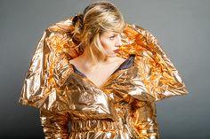 Dip Dye, Kimono Top, Copper, Fabric, Silver, How To Make, Clothes, Collection, Tops
