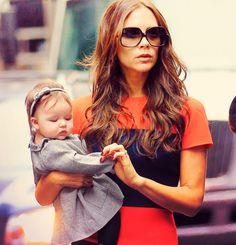 momma and baby girl. always fashionable.
