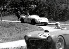Maserati 300S Chassi 3062  13/04/1958 - Circuito da Quinta da Boa Vista - Rio de Janeiro - Brasil #4 - Maserati 300S/3062 de Pinheiro Pires, à frente a Ferrari 250  #12 de Álvaro Varanda. (Acervo Pessoal de Napoleão Ribeiro) Felipe - Álbuns da web do Picasa
