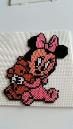 Baby Minnie Mouse hama beads by Pernille Henriksen
