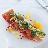 Recept - Serranoham met granaatappelsalade - Allerhande