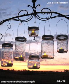 DIY Party Lanterns 12 Wide Mason Jar Hangers for Candles, Flowers,or String Lights, Beach, Country, Outdoor Event Ball Mason Hanging Jars on Etsy, $42.00