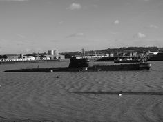 The Ex Soviet submarine moored in the river Medway at Strood [shared]