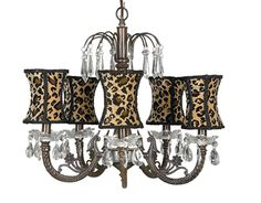 Mocha Chandelier by Jubilee- Cheetah! This mocha chandelier has a detailed center that gathers in a waterfall of u-drop crystals. Animal Print Bedroom, Animal Print Furniture, Animal Print Decor, Animal Print Fashion, Animal Prints, Leopard Fashion, Jaguar, Leopard Bedroom, Eclectic Chandeliers