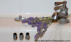 aromatherapy alternative: Add hot water to a washcloth. Ring it out. Add 3 drops lav EO & lay over forehead in bed.