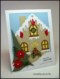 stamping up north... memory box, poppy stamps cute cottage