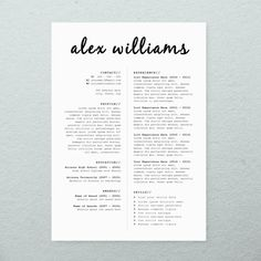 CV Design + Cover Letter, Printable Resume Template, INSTANT DOWNLOAD, Microsoft Word