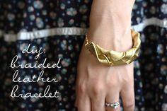 DIY Braided Leather Bracelets