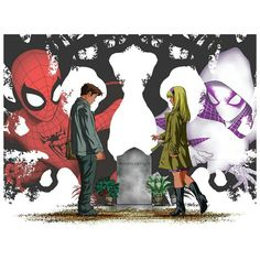 Emotional Hastings Interlocking Variant Covers By Mike McKone For Marvel's Amazing Spider-Man & Spider-Gwen Hit Stands April Nil Spoilers Amazing Spiderman, Spiderman And Spider Gwen, Spider Man's, Spider Girl, Spiderman Art, Marvel Images, Marvel Art, Marvel Dc Comics, Marvel Heroes