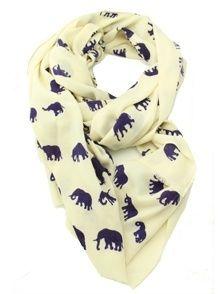 Elephant Scarf. ELEPHANT SCARF. this would go amazing with my elephant ring.