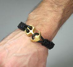 Unisex leather bracelet / Men Bracelet/ Men's by ZEcollection, $15.00