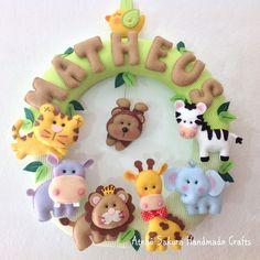 Guirlanda Porta de Maternidade Safari para o Matheus