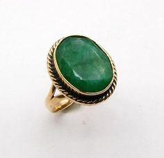 emerald rose gold bronze ring size 775 b2143 - Skull Wedding Ring Sets