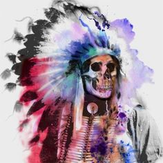 Native Indian Chief... now imagine as a tattoo!