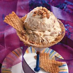 Pecan-Caramel Crunch Ice Cream from 25 Best Homemade Ice Cream Recipes from Southern Living