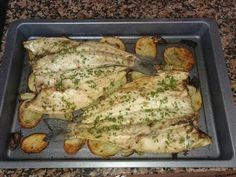 Photo from step 3 of the recipe Easy baked seabass potato al horno asadas fritas recetas diet diet plan diet recipes recipes Sea Bass, Diet Recipes, Seafood, Bacon, Easy Meals, Food And Drink, Potatoes, Meat, Chicken