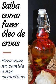 Escolha a melhor técnica de infusão de ervas no óleo para usar na cosmética artesanal e na comida.