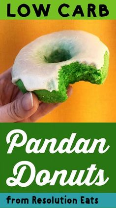 These Southeast Asia inspired donuts are powered by the leaves of the Pandan plant. And each serving has just net carbs. Low Carb Donut, Low Carb Keto, Quick Keto Breakfast, Breakfast Recipes, Breakfast Ideas, Breakfast Biscuits, Breakfast Cereal, Breakfast Cookies, Eat Breakfast