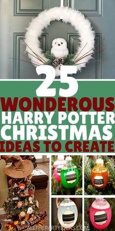 Have a merry HARRY POTTER CHRISTMAS with decorations, ornaments, stocking, outfits & more for a wand-erful wintry holiday. Harry Potter Christmas Decorations, Harry Potter Ornaments, Harry Potter Christmas Tree, Hogwarts Christmas, Harry Potter Decor, Harry Potter Gifts, Christmas Swags, Christmas Crafts, Christmas Ideas