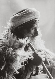 Africa | Old Bedouin. Sinai peninsula, Egypt . ca. 1900-1920. | Photographer unknown { Matson Collection}