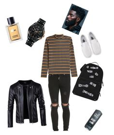 """""""Quiet icon"""" by kaylalowery123 ❤ liked on Polyvore featuring Rado, Represent, STELLA McCARTNEY, Vans, Valentino, Lacoste, men's fashion, menswear, iconic and killerlooks"""