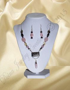 Rose Quartz, Amethyst, Citrine via DJC - Handmade jewelry. Click on the image to see more!