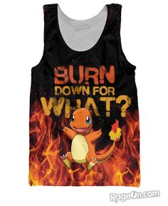 858a7ad4683f07 Charmander Tank Top . This site has all the nerdy tops I want.. Pokemon