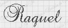 Resultado de imagem para graficos de nome Raquel em ponto cruz
