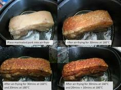 Crispy roast pork belly using Phillips Airfryer