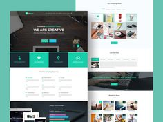 Creative   theHam is a creative psd landing page template that professionals and freelancers can use to create a portfolio website or to create a website for a agency. It can also be used to create a website for a product. The design is modern with a nice color scheme and a clean layout. Many thanks to Abdur Rahim for sharing this freebie with the design community.