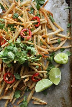 Loaded french fries with a kick: Lebanese Spiced French Fries via Heather Christo LLC Allergy Free Recipes, Vegetarian Recipes, Cooking Recipes, Delicious Recipes, Potato Dishes, Potato Recipes, Potato Spuds, Nigella Lawson, Sin Gluten