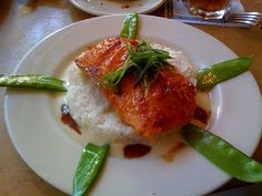 Cheesecake Factory copycat:  Miso Salmon with Sake Butter Sauce and Snow Peas...had this on vacation for the first time and it was AMAZING!  I'd love to recreate it at home.