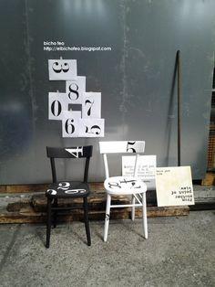 Vecchie sedie recuperate in chiave moderna. http://elbichofeo.blogspot.com