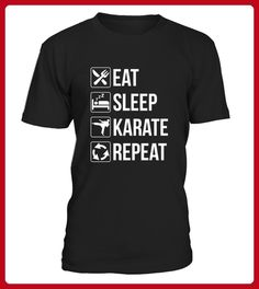 Funny Eat Sleep Karate Repeat TShirt - Halloween shirts (*Partner-Link)