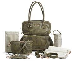 Timi & Leslie Hayley Convertible Diaper Bag-Olive