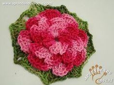 ▶ Flor de Croche Rasteirinha - Aprendendo Crochê - YouTube