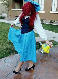 Ariel costume. Never really see this side of her