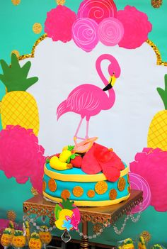 Pineapple Printables - FLAMINGO Party - PINK FLAMINGO - Flamingo Printables - Pink Flamingo - Flamingo Birthday Party - Hawaiian Luau - Summer Party - Pool Party- Flamingo - Pineapple Party