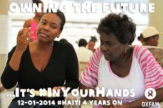 From 11 to 15  January, Haitians and people around the world will come together to tell us what owning the future means for #Haiti and how they can help #inyourhands. Check out blogs, messages, and more from Oxfam.   Take action and change your FB cover or your profile photo with this pix!  More information  http://www.oxfam.org/haiti-quake