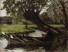 A Boat and a Willow, Matthijs Maris - #Art #LoveArt https://wp.me/p6qjkV-50m