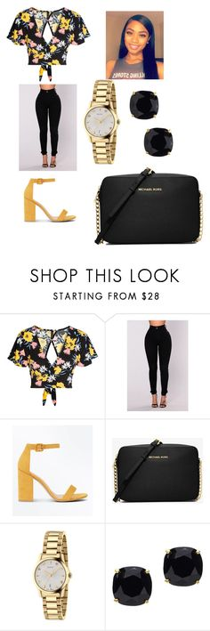 """""""Untitled #444"""" by askariwilson on Polyvore featuring New Look, Michael Kors, Gucci and Kate Spade"""